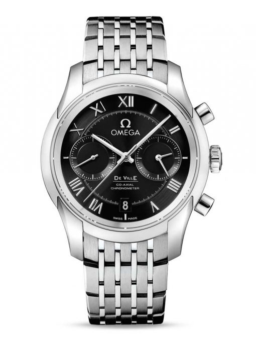 Omega De Vile Co-Axial Chronograph Stainless Steel Men's Watch, 431.10.42.51.01.001