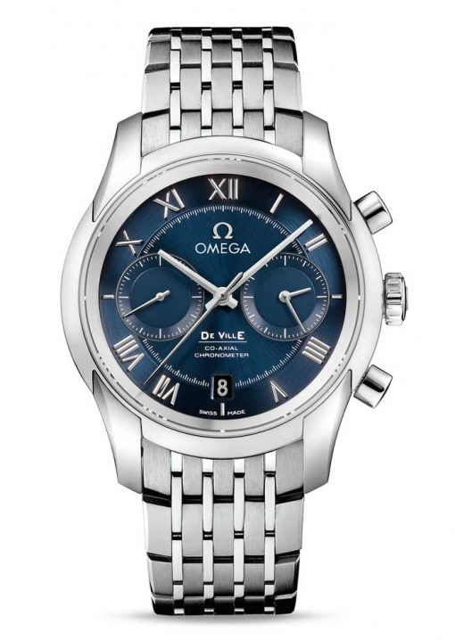 Omega De Vile Co-Axial Chronograph Stainless Steel Men's Watch, 431.10.42.51.03.001