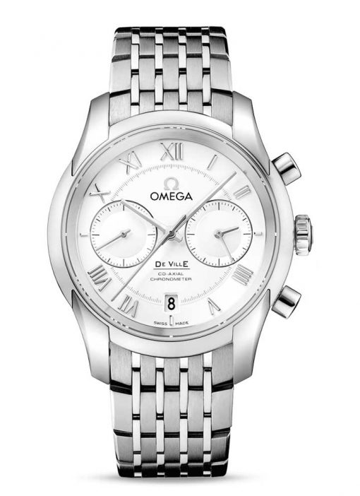 Omega De Vile Co-Axial Chronograph Stainless Steel Men's Watch, 431.10.42.51.02.001