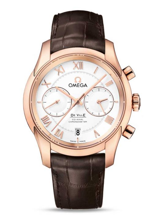 Omega De Vile Co-Axial Chronograph 18K Red Gold Men's Watch, 431.53.42.51.02.001