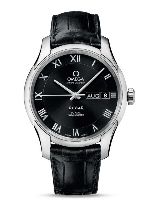Omega De Vile Co-Axial Annual Calendar Stainless Steel Men's Watch, 431.13.41.22.01.001