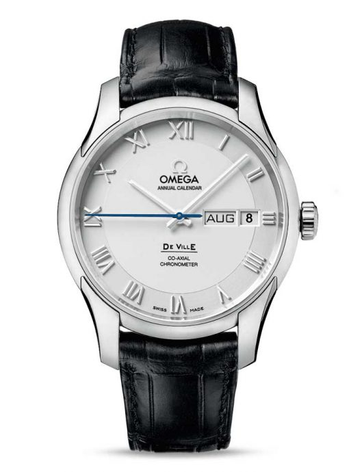 Omega De Vile Co-Axial Annual Calendar Stainless Steel Men's Watch, 431.13.41.22.02.001