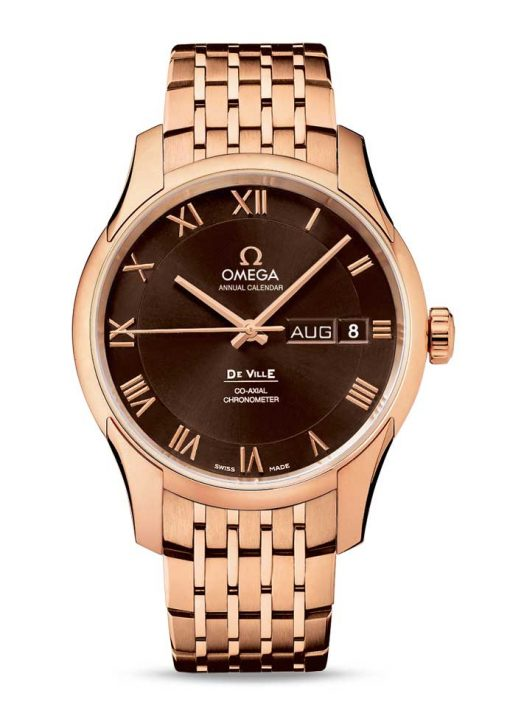 Omega De Vile Co-Axial Annual Calendar 18K Red Gold Men's Watch, 431.50.41.22.13.001