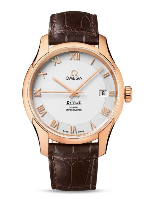 Omega De Vile Co-Axial 18K Red Gold Men's Watch, 431.53.41.21.02.001
