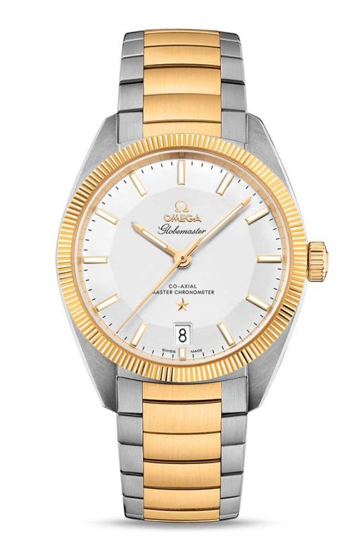 Omega Globemaster Co-Axial Master 18K Yellow Gold & Stainless Steel Men's Watch, 130.20.39.21.02.001