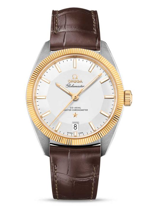 Omega Globemaster Co-Axial Master 18K Yellow Gold & Stainless Steel Men's Watch, 130.23.39.21.02.001