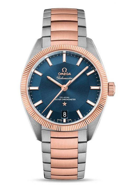 Omega Globemaster Co-Axial Master 18K Sedna™ Gold & Stainless Steel Men's Watch, 130.20.39.21.03.001