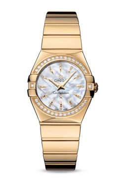 Omega Constellation Quartz 18K Yellow Gold Ladies Watch 123.55.27.60.55.008
