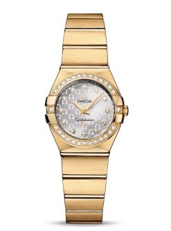 Omega Constellation Quartz 18K Yellow Gold Ladies Watch 123.55.24.60.52.002