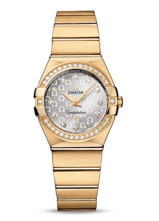Omega Constellation Quartz 18K Yellow Gold Ladies Watch, 123.55.27.60.52.002