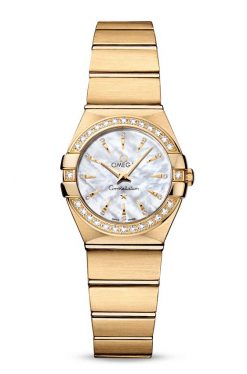 Omega Constellation Quartz 18K Yellow Gold & Diamonds Ladies Watch 123.55.24.60.55.004
