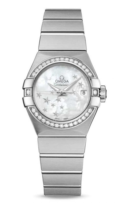 Omega Constellation Co-Axial Stainless Steel Ladies Watch, 123.15.27.20.05.001