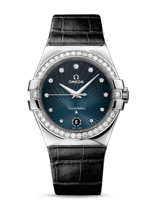 Omega Constellation Co-Axial Stainless Steel & Diamonds Ladies Watch, 123.18.35.60.56.001