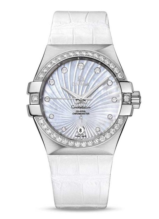 Omega Constellation Co-Axial Stainless Steel & Diamonds Ladies Watch, 123.18.35.20.55.001