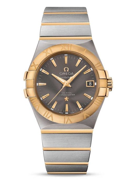 Omega Constellation Co-Axial 18K Yellow Gold & Stainless Steel Men's Watch, 123.20.35.20.06.001