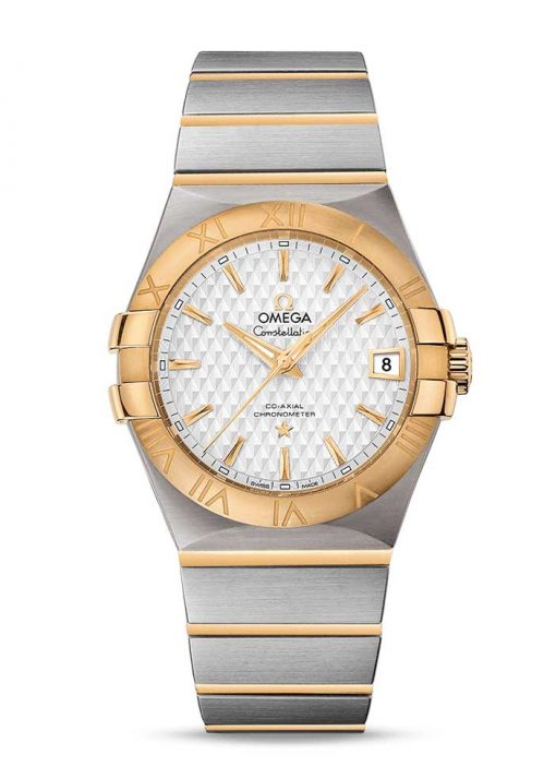 Omega Constellation Co-Axial 18K Yellow Gold & Stainless Steel Men's Watch, 123.20.35.20.02.006