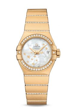 Omega Constellation Co-Axial 18K Yellow Gold & Diamonds Ladies Watch 123.55.27.20.05.002