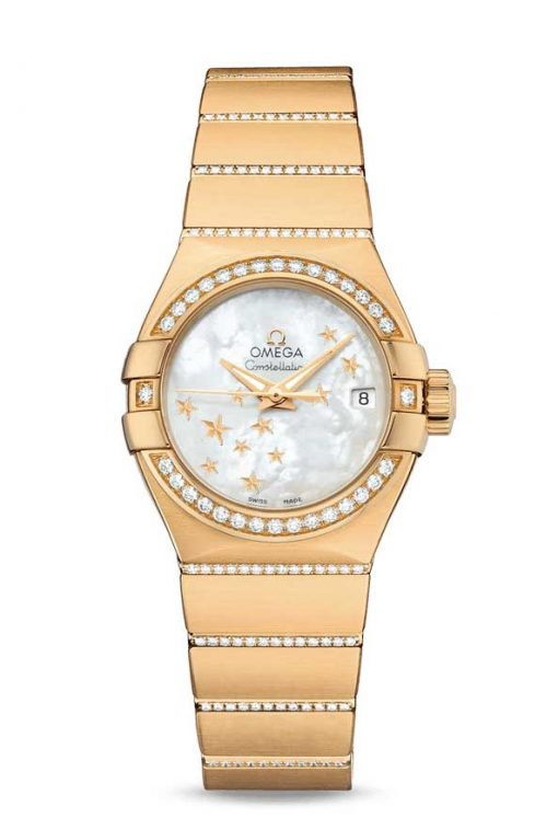 Omega Constellation Co-Axial 18K Yellow Gold & Diamonds Ladies Watch, 123.55.27.20.05.002