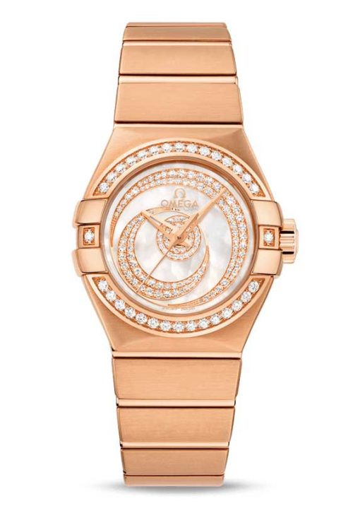 Omega Constellation Co-Axial 18K Red Gold Ladies Watch, 123.55.27.20.55.005