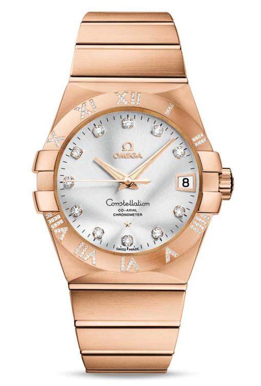 Omega Constellation Co-Axial 18K Red Gold & Stainless Steel Unisex Watch, 123.55.38.21.52.007