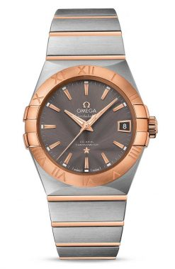 Omega Constellation Co-Axial 18K Red Gold & Stainless Steel Men's Watch 123.20.38.21.06.002