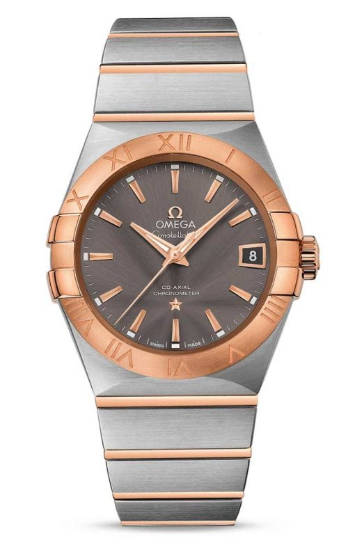 Omega Constellation Co-Axial 18K Red Gold & Stainless Steel Men's Watch, 123.20.38.21.06.002