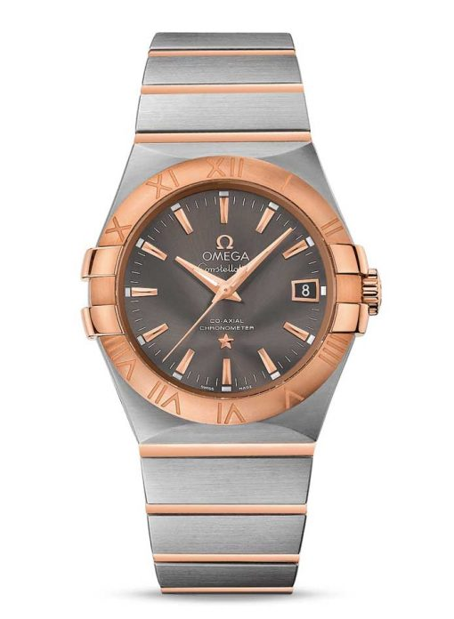 Omega Constellation Co-Axial 18K Red Gold & Stainless Steel Men's Watch, 123.20.35.20.06.002