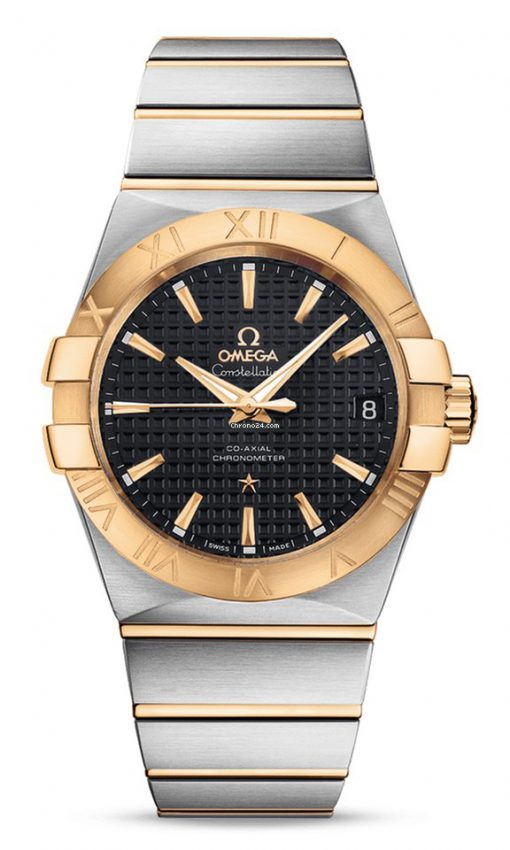 Omega Constellation Co-Axial 18K Yellow Gold & Stainless Steel Men's Watch, 123.20.38.21.01.002