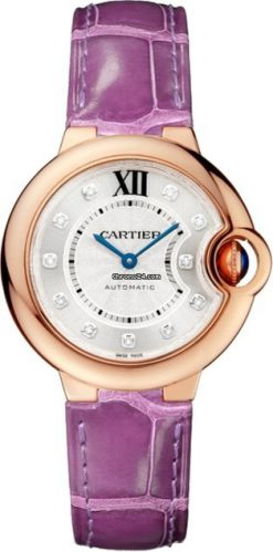 Cartier Ballon Bleu 18K Pink Gold & Diamonds Ladies Watch WE902063