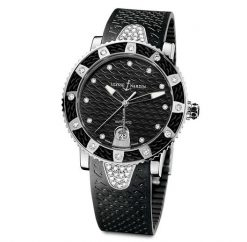 Ulysse Nardin Stainless Steel Diamonds Lady Marine Diver Watch pre-owned.8103-101e-3c/12