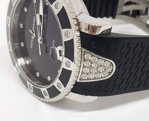 Ulysse Nardin Stainless Steel Diamonds Lady Marine Diver Watch, pre-owned.8103-101e-3c/12 2