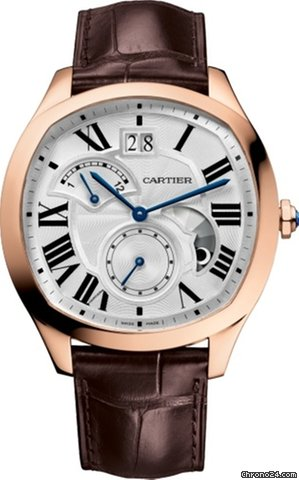 Cartier Drive Second Time Zone Day/Night 18K Pink Gold Men's Watch, WGNM0005