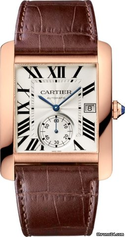 Cartier Tank MC 18K Pink Gold Men's Watch, W5330001