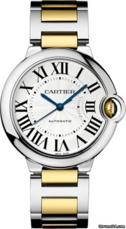 Cartier Ballon Bleu Stainless Steel & 18K Yellow Gold Men's Watch W2BB0012