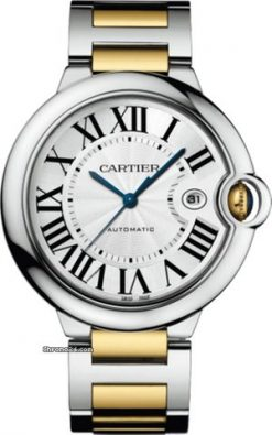 Cartier Ballon Bleu Stainless Steel & 18K Yellow Gold Men's Watch W2BB0022