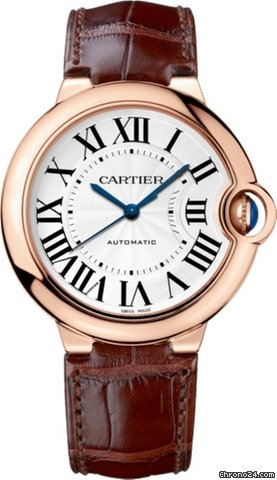 Cartier Ballon Bleu 18K Pink Gold Men's Watch, WGBB0009