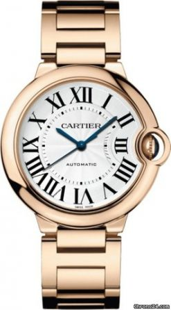 Cartier Ballon Bleu 18K Pink Gold Men's Watch WGBB0008