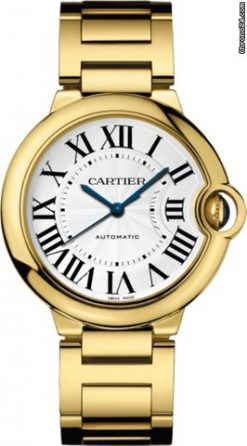 Cartier Ballon Bleu 18K Yellow Gold Men's Watch WGBB0011