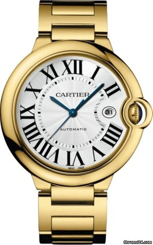 Cartier Ballon Bleu 18K Yellow Gold Men's Watch, WGBB0023