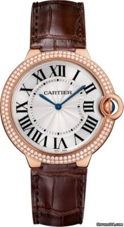 Cartier Ballon Bleu 18K Pink Gold & Diamonds Men's Watch WE902055