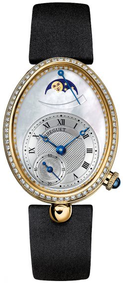 Breguet Reine de Naples Power Reserve 18K Yellow Gold Ladies Watch preowned.8908BA/52/864/D00D