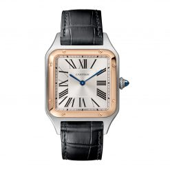 Cartier Santos Stainless Steel & 18K Rose Gold Extra Large Model Watch W2SA0017