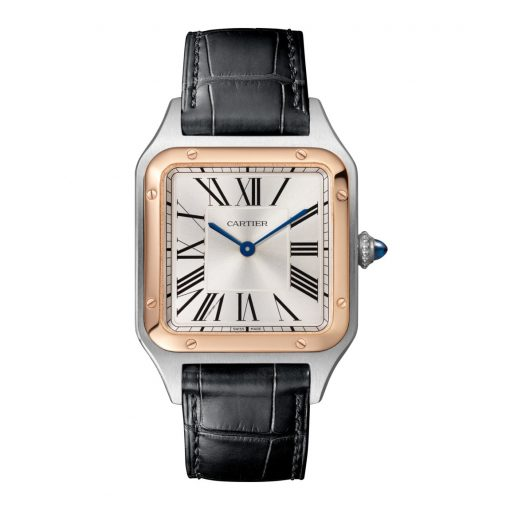 Cartier Santos Stainless Steel & 18K Rose Gold Extra Large Model Watch, W2SA0017