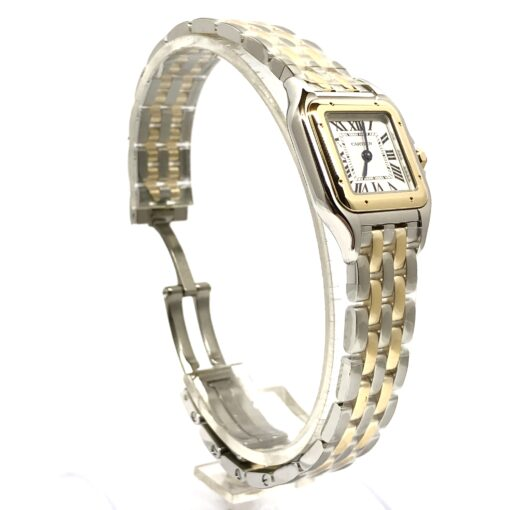 Cartier Panthère Stainless Steel & 18K Yellow Gold Small Model Ladies Watch, W2PN0006 4