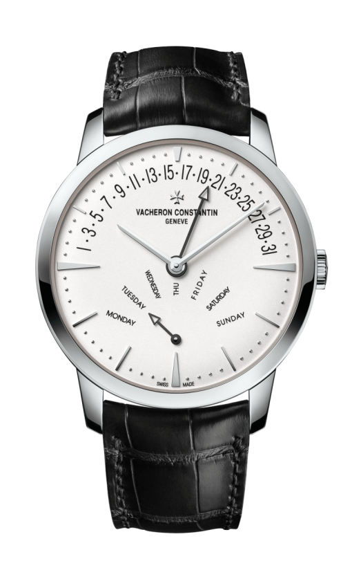 Vacheron Constantin Patrimony Retrograde Day-Date 18K White Gold Men's Watch, 4000U/000G-B112