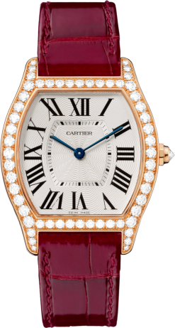 Cartier Tortue 18K Pink Gold & Diamonds Ladies Watch WA501008