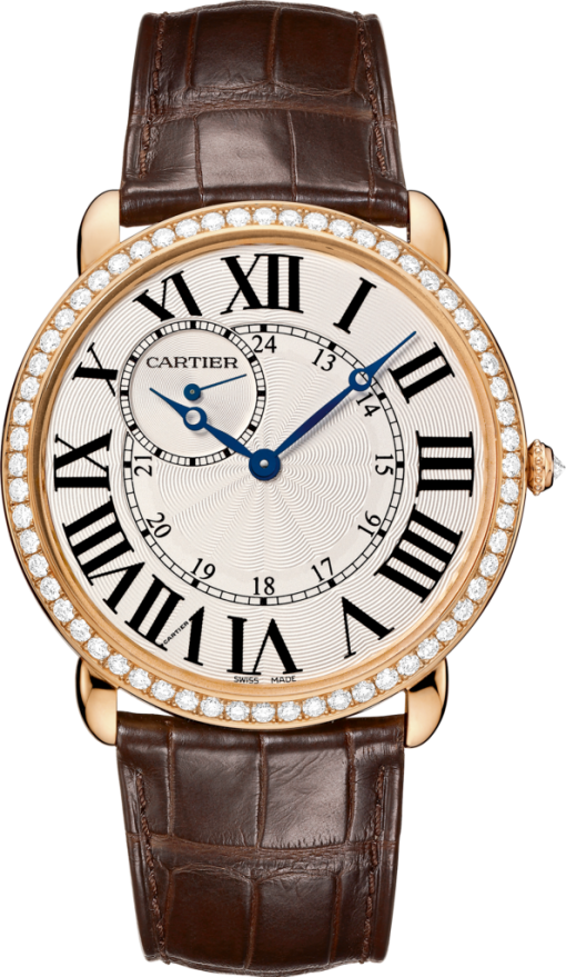 Cartier Ronde Louis 18K Pink Gold & Diamonds Watch, WR007001