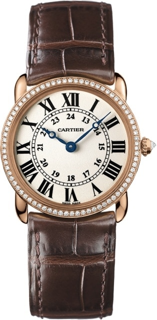Cartier Ronde Louis 18K Pink Gold & Diamonds Lady's Watch, WR000351