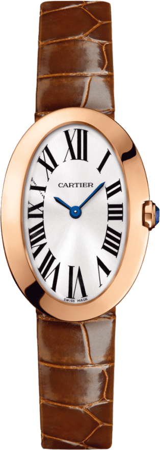 Cartier Mini Baignoire 18K Pink Gold Ladies Watch, W8000017