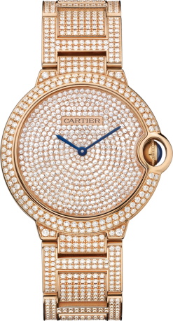 Cartier Ballon Bleu 18K Pink Gold & Diamonds Lady's Watch HPI00489